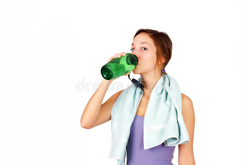 Download Sporty Young Woman Drinking Water Stock Photo - Image: 30502692