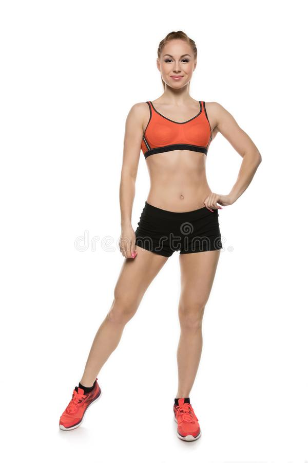 Sporty young woman royalty free stock photo