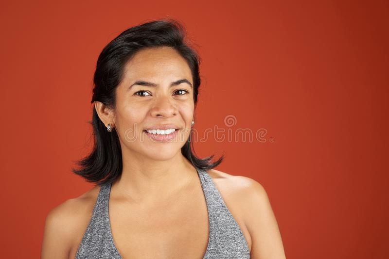 Sporty young woman headshot royalty free stock photo