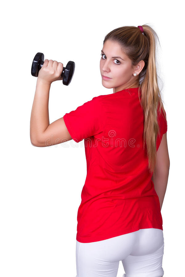 Download Sporty young woman stock image. Image of athletic, muscular - 33675133