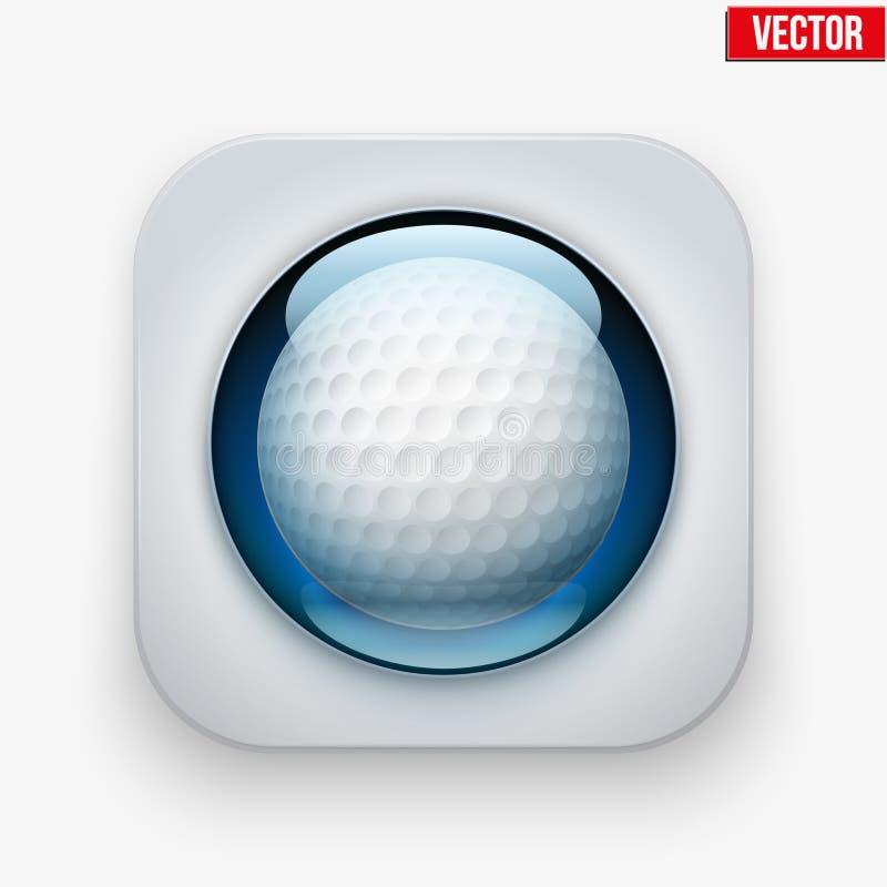 Sporty zapinają z piłką pod szkłem dla strony internetowej lub ilustracja wektor