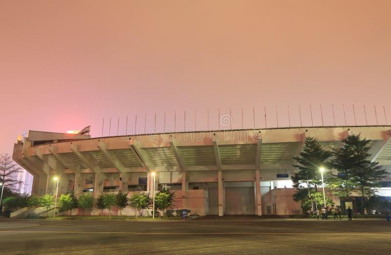 Sportzentrum Guangzhous Tianhe Guangzhou China stockfoto