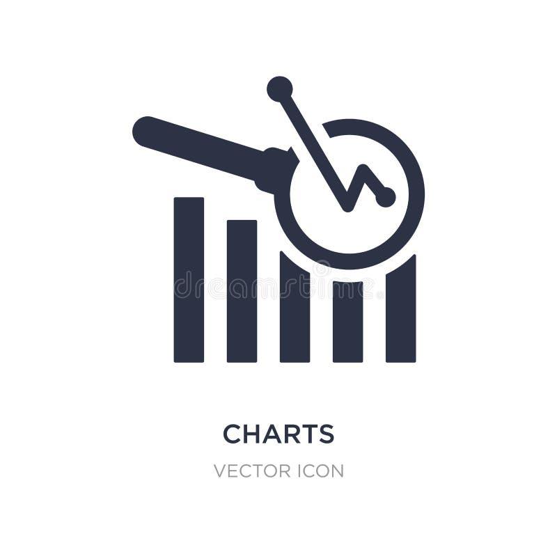 sporządza mapę ikonę na białym tle Prosta element ilustracja od biznesu i analityka pojęcia ilustracja wektor