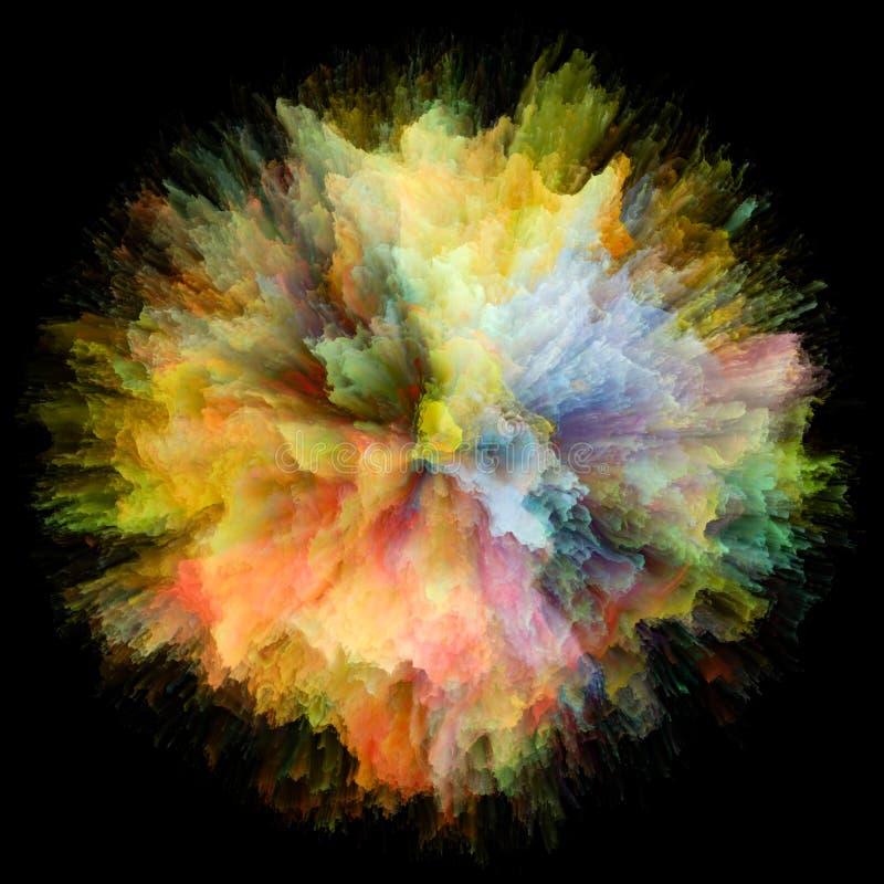 Sposób koloru pluśnięcia wybuch ilustracja wektor