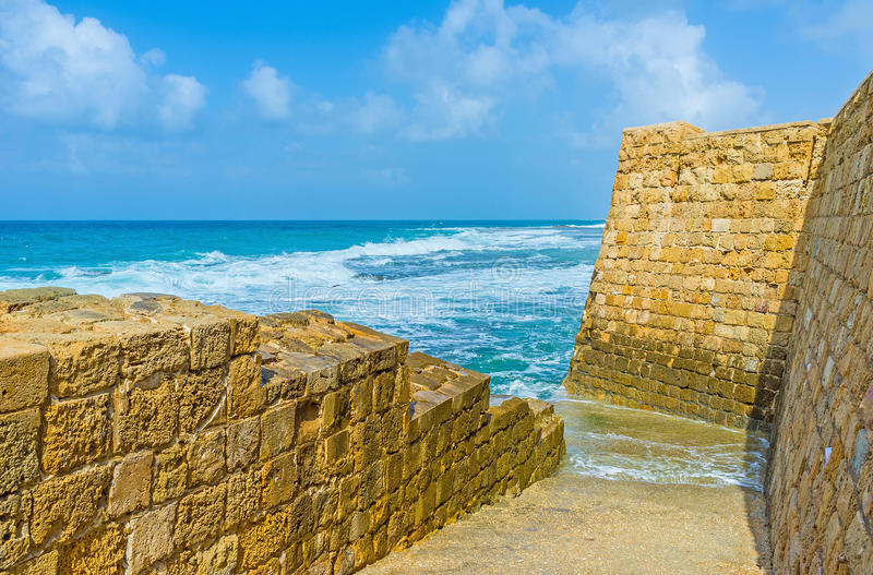 Sposób morze zdjęcie royalty free