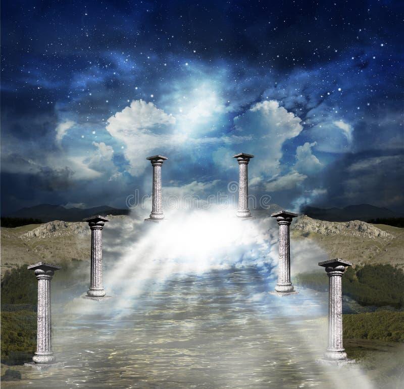 Sposób niebo ilustracji
