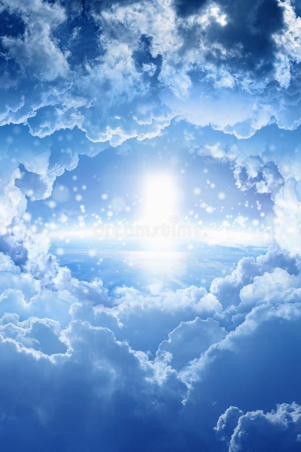 Sposób niebo, niebiański drzwi obrazy royalty free