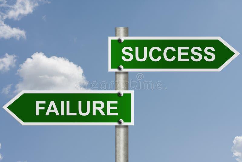 sposób niepowodzenie sukces obrazy royalty free