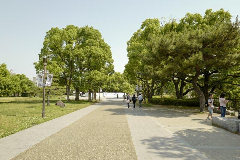 Sposób Osaka kasztel Osaka kasztel jest jeden Japan?s najwi?cej s?awnych punkt?w zwrotnych zdjęcia stock