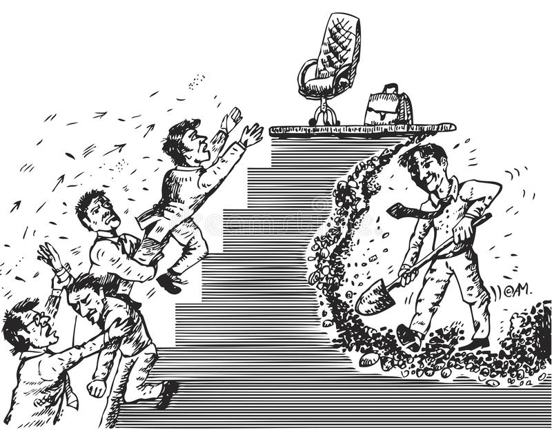 Sposób przywódctwo (wektor) royalty ilustracja