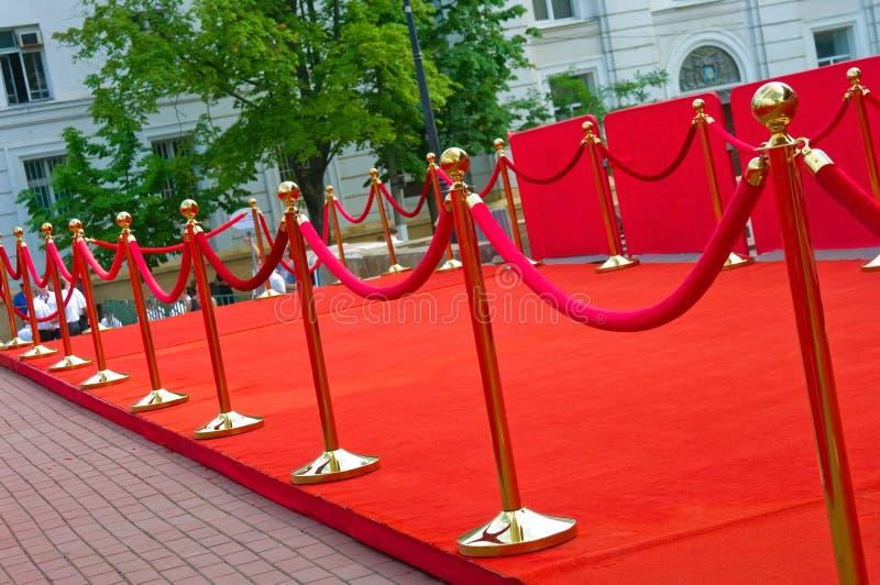 Sposób sukces na czerwonym chodniku (bariery arkana) zdjęcie royalty free