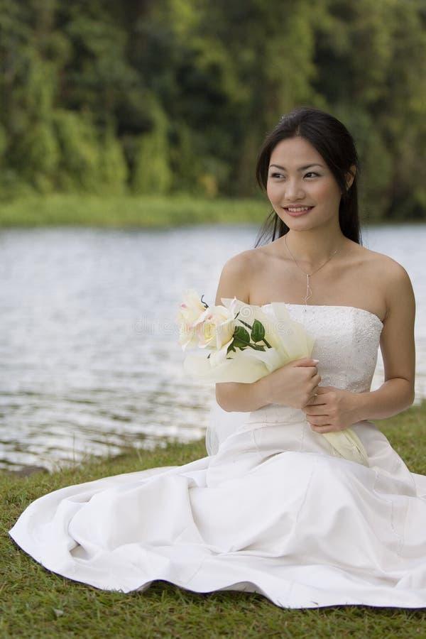Sposa asiatica 7 immagini stock libere da diritti
