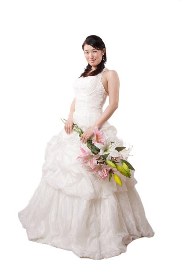 Sposa asiatica di classe fotografie stock libere da diritti