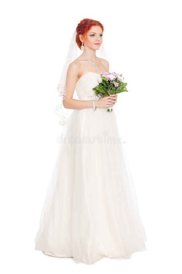 Sposa con un mazzo dei fiori fotografia stock libera da diritti