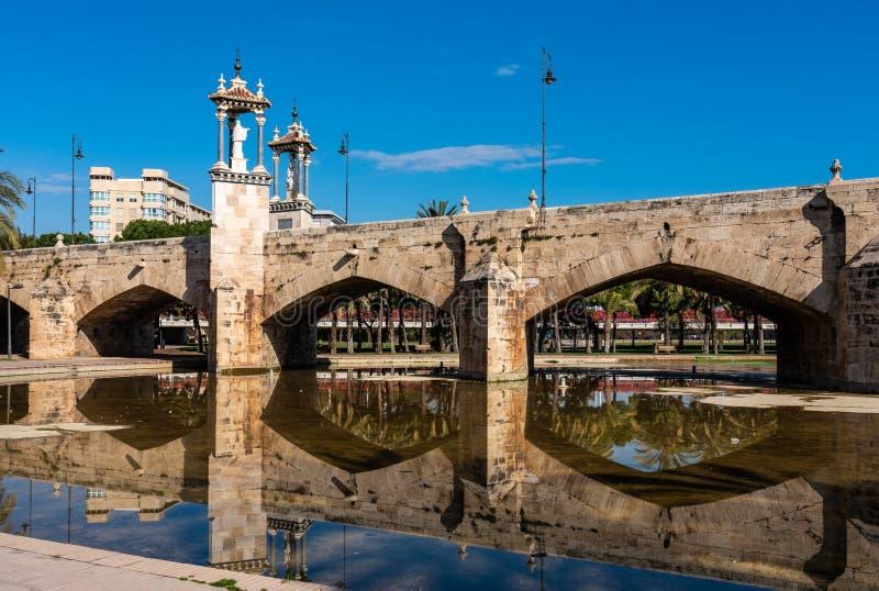 Sposa del mare, Puente Del Mar in Turia Garden a Valencia, Spagna immagine stock libera da diritti