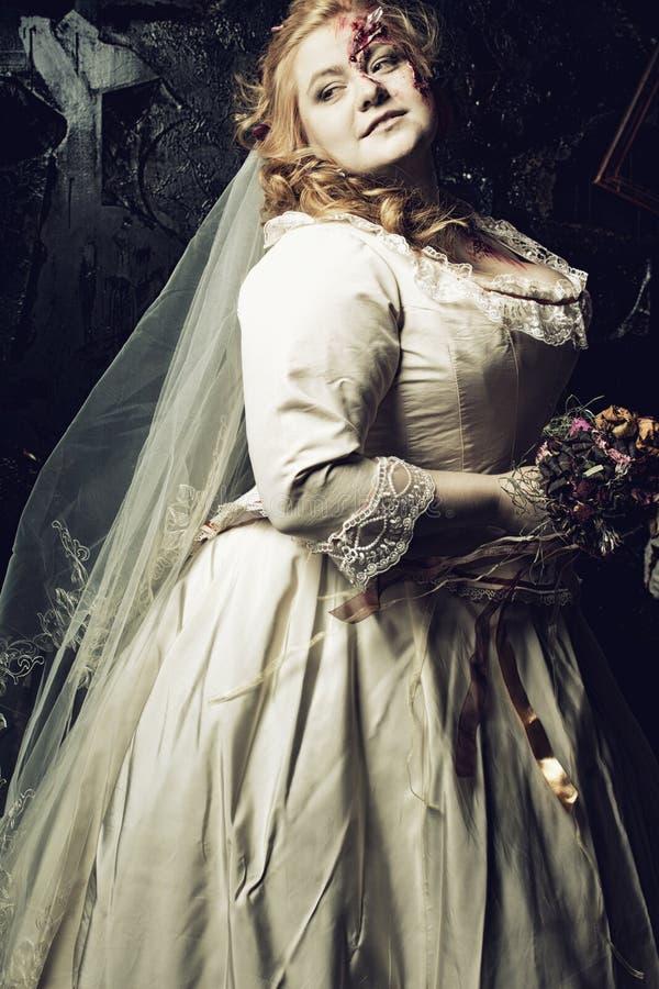 Sposa del non morto fotografie stock libere da diritti