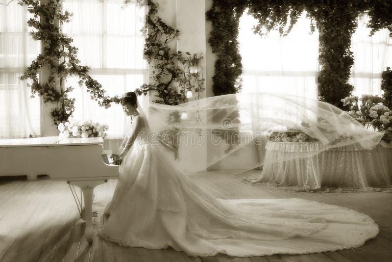 Sposa del piano immagini stock
