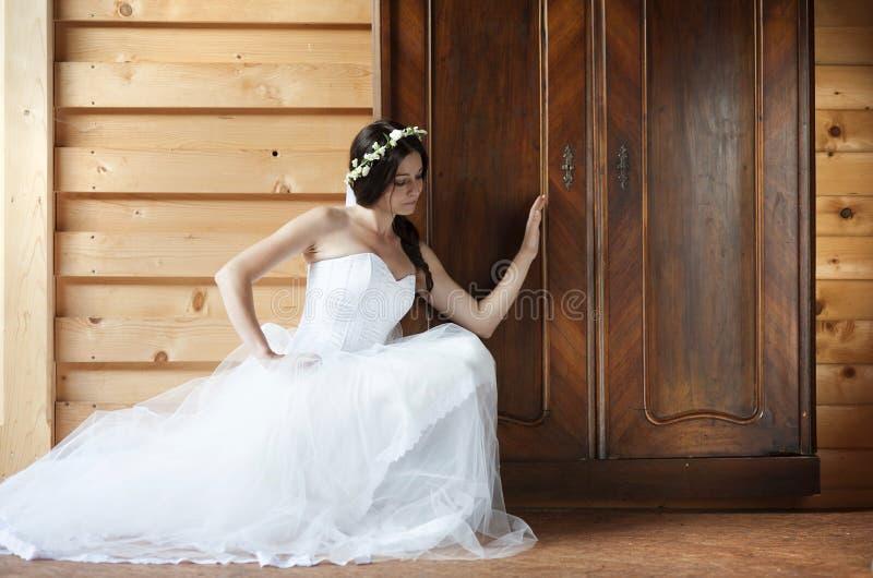 Sposa della campagna fotografia stock libera da diritti