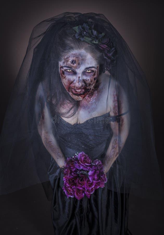 Sposa dello zombie immagini stock