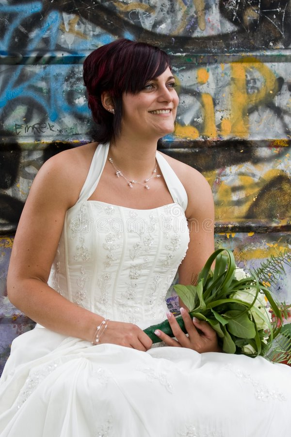 Sposa di Cheerfull immagine stock