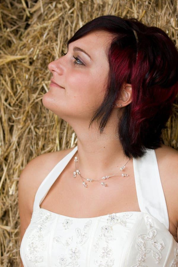 Sposa di Cheerfull fotografie stock libere da diritti