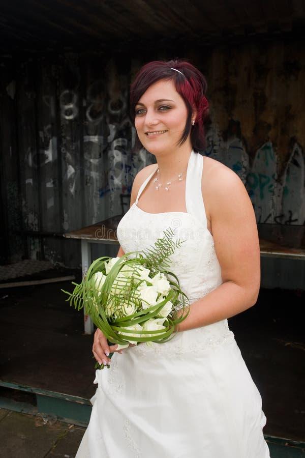Sposa di Cheerfull immagini stock libere da diritti