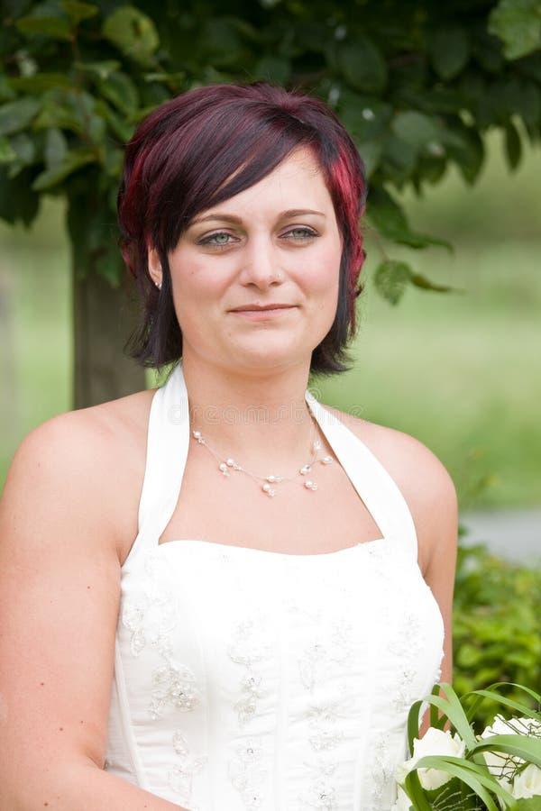 Sposa di Cheerfull fotografie stock