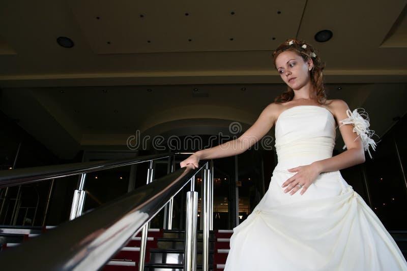 Sposa di concetto di cerimonia nuziale in vestito fotografia stock libera da diritti