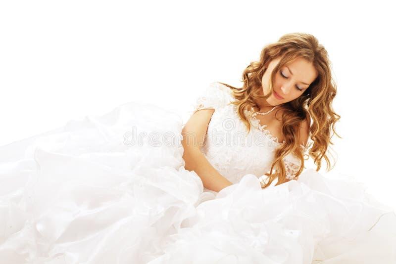 Sposa di menzogne di bellezza immagine stock