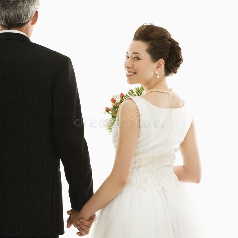 Sposa e sposo. immagine stock