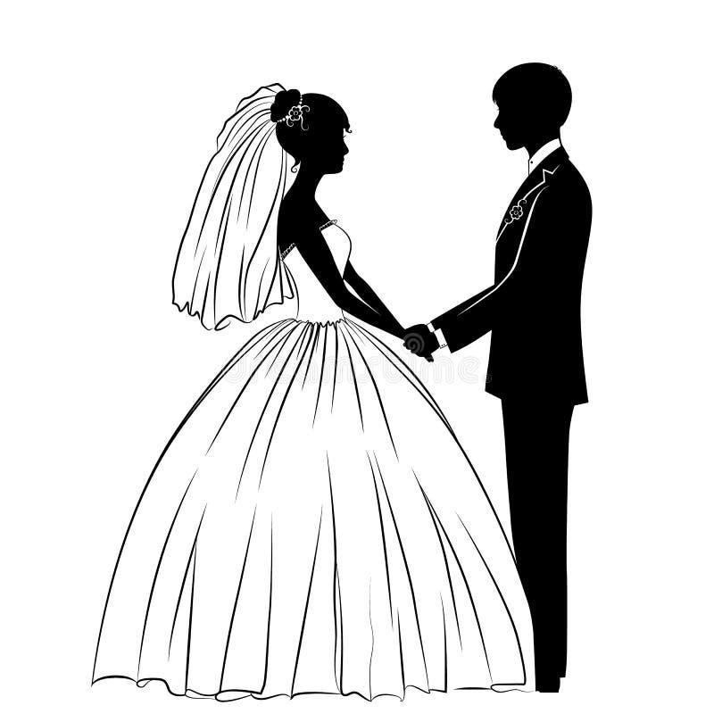Sposa e sposo royalty illustrazione gratis