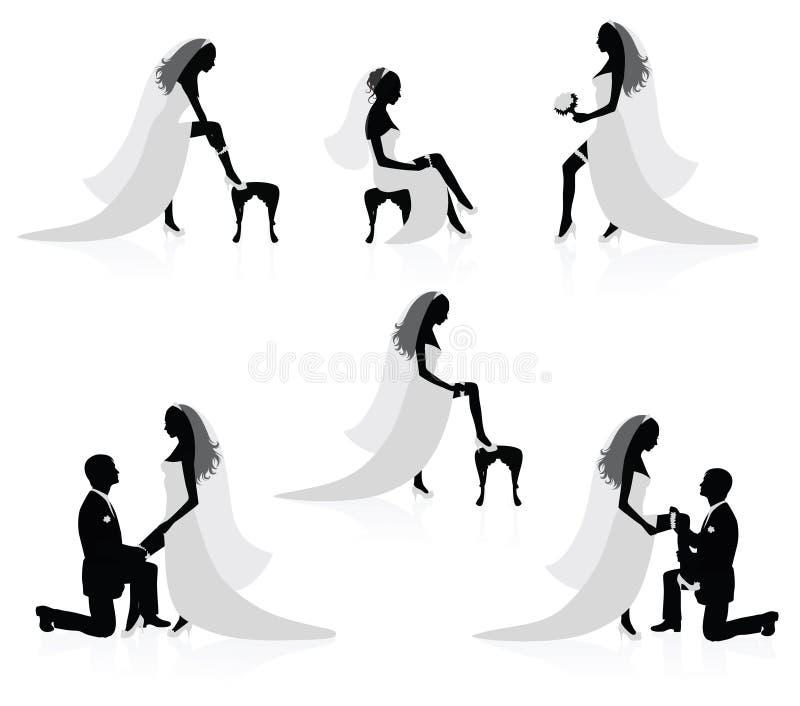 Sposa e uno sposo. royalty illustrazione gratis