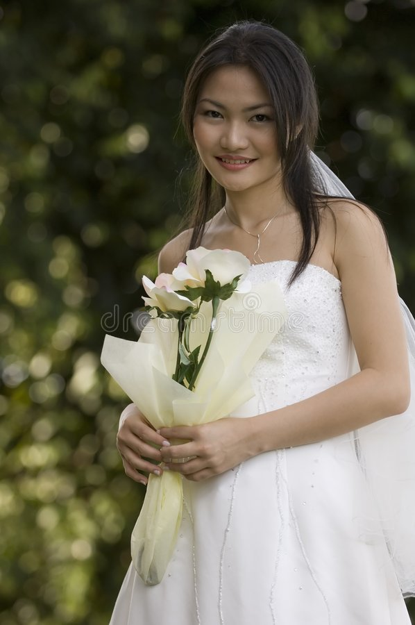 Download Sposa esterna 1 immagine stock. Immagine di asiatico, rose - 222501