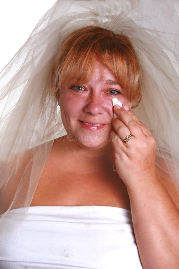 Sposa eyed acquosa fotografia stock