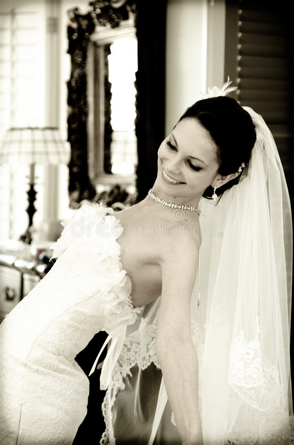 Sposa felice fotografie stock