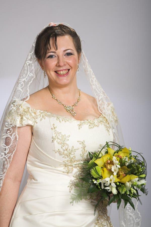 Sposa felice immagine stock libera da diritti