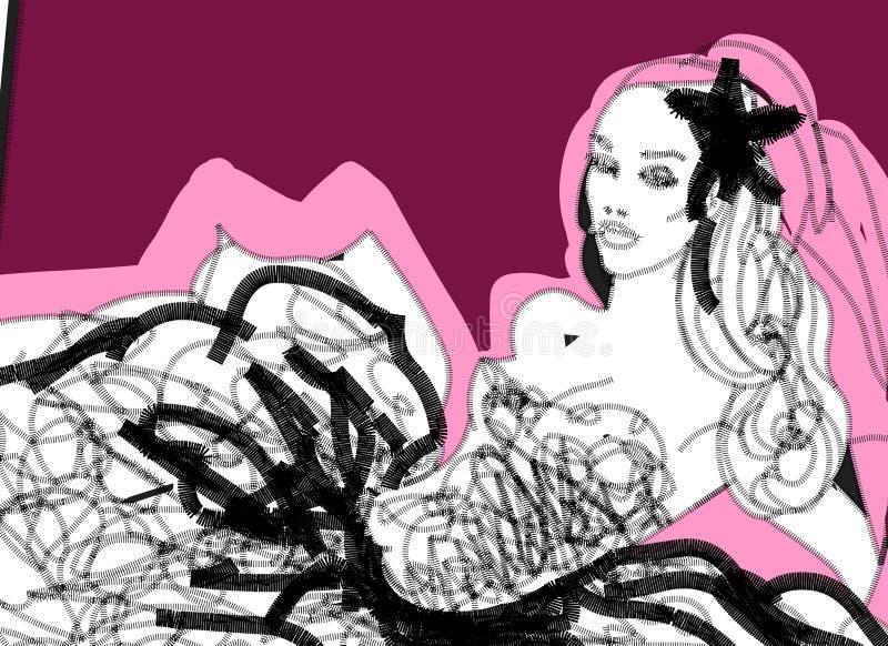 Sposa grafica alla moda royalty illustrazione gratis