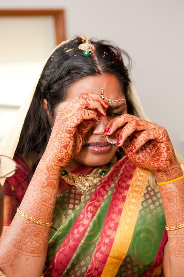 Sposa gridante immagine stock libera da diritti