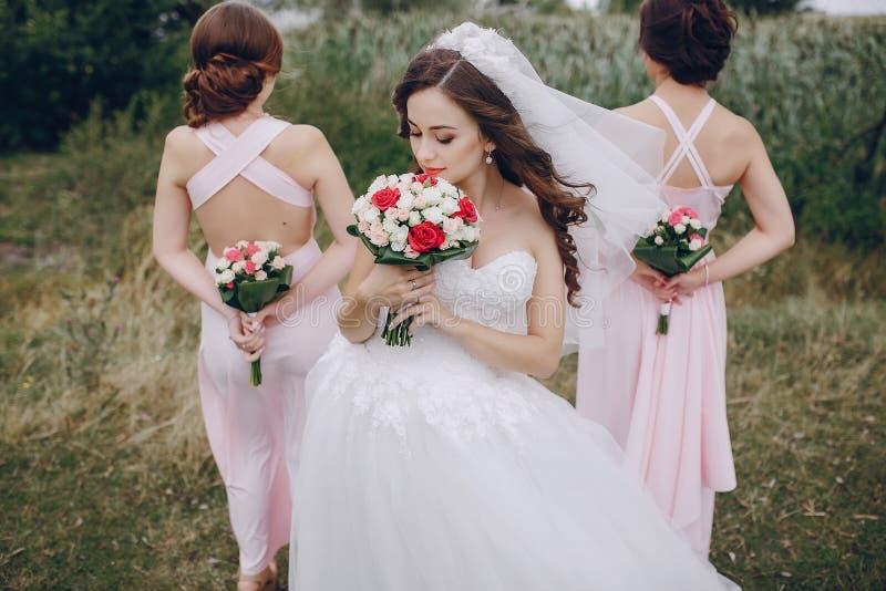 Sposa HD della damigella d'onore fotografia stock