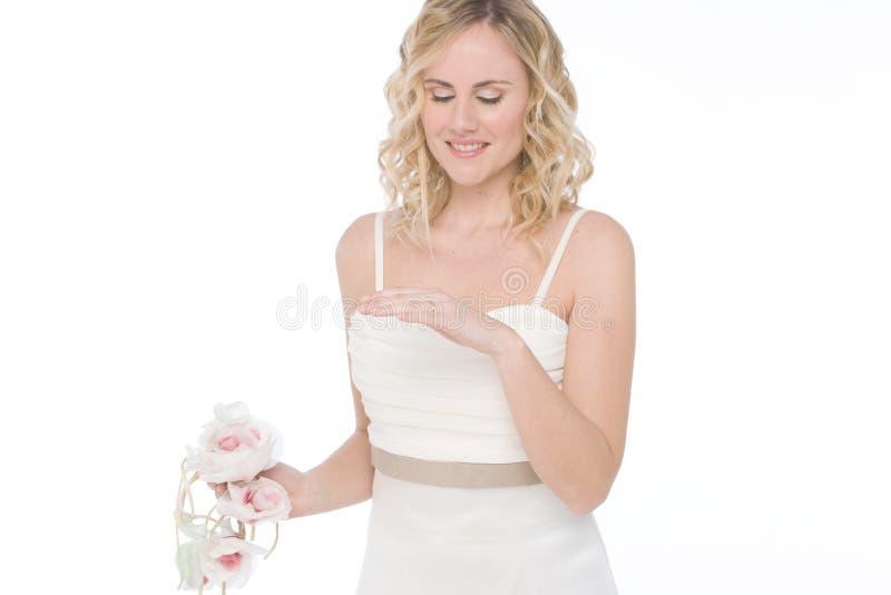 Sposa isolata su bianco fotografie stock libere da diritti