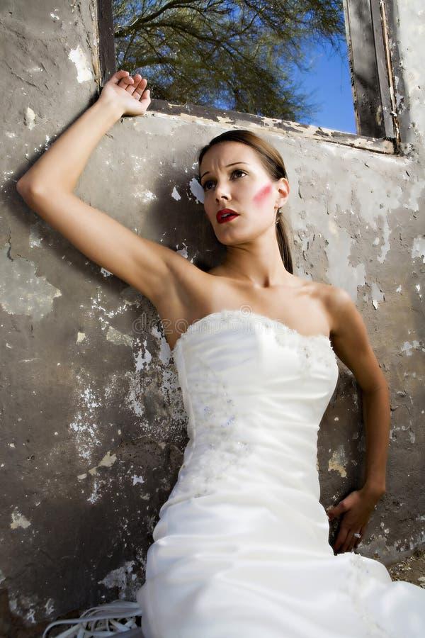 Sposa nell'afflizione fotografia stock libera da diritti