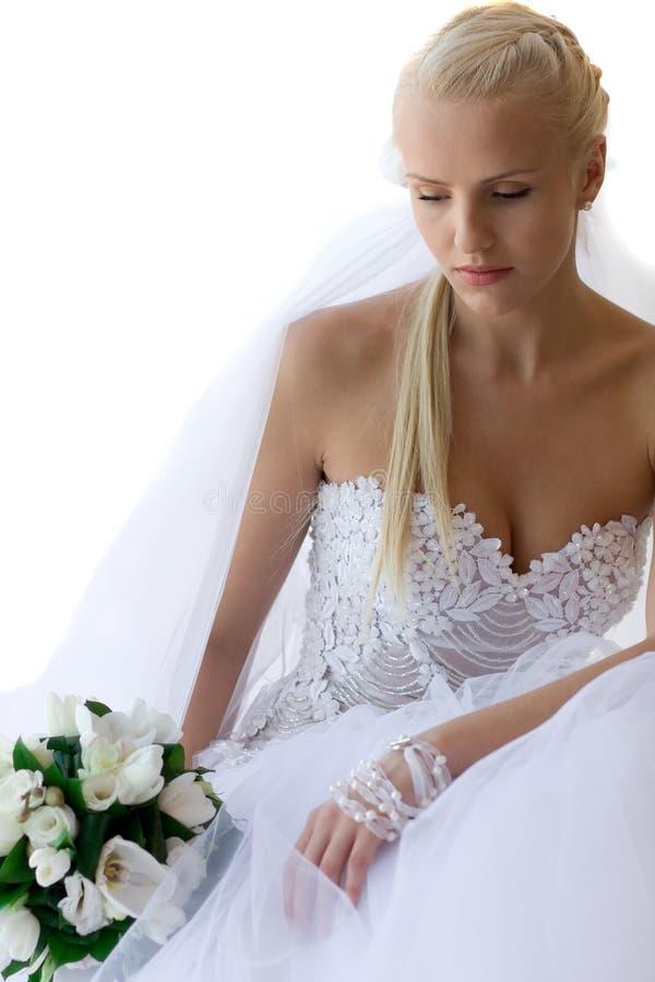 Sposa Pensive immagine stock libera da diritti