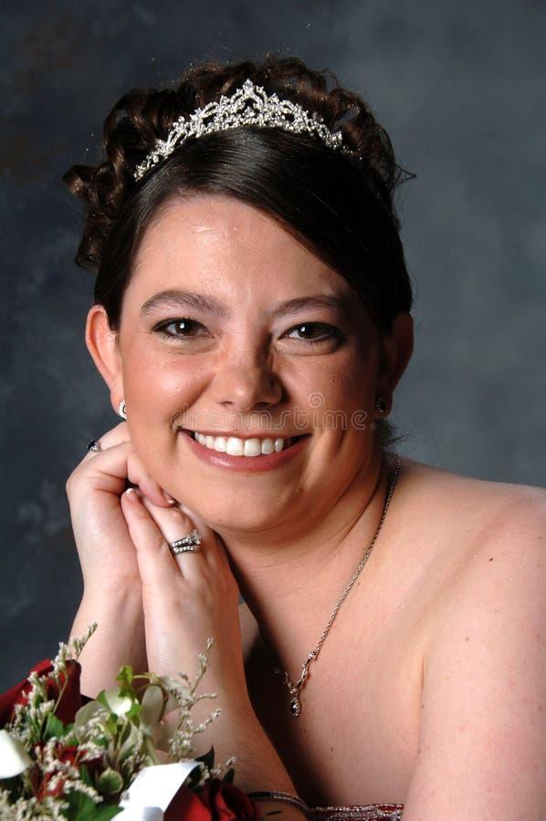Sposa sorridente fotografie stock libere da diritti
