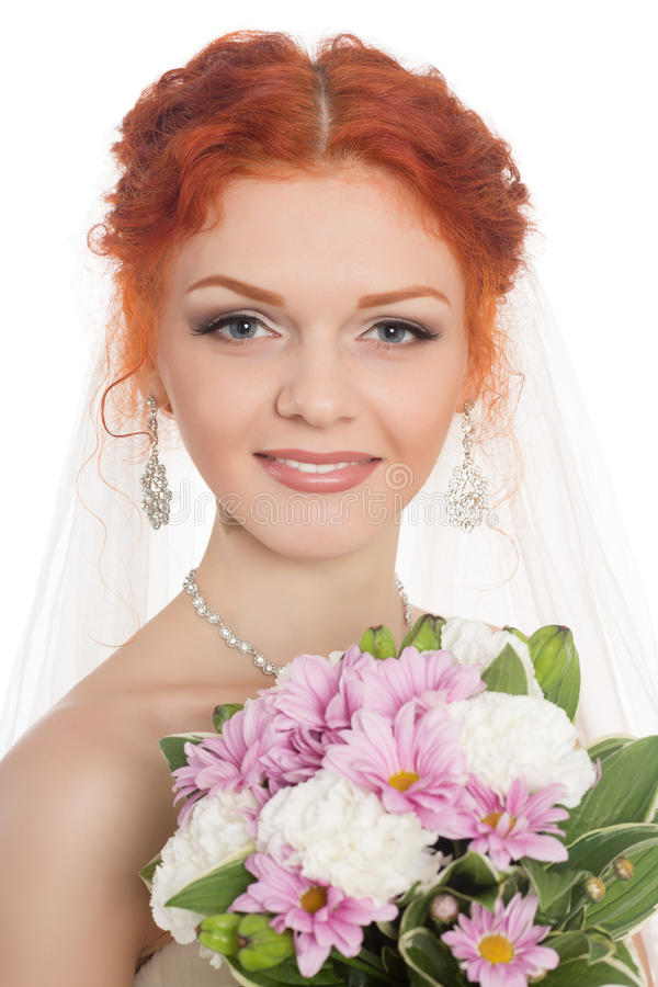 Sposa sorridente fotografia stock