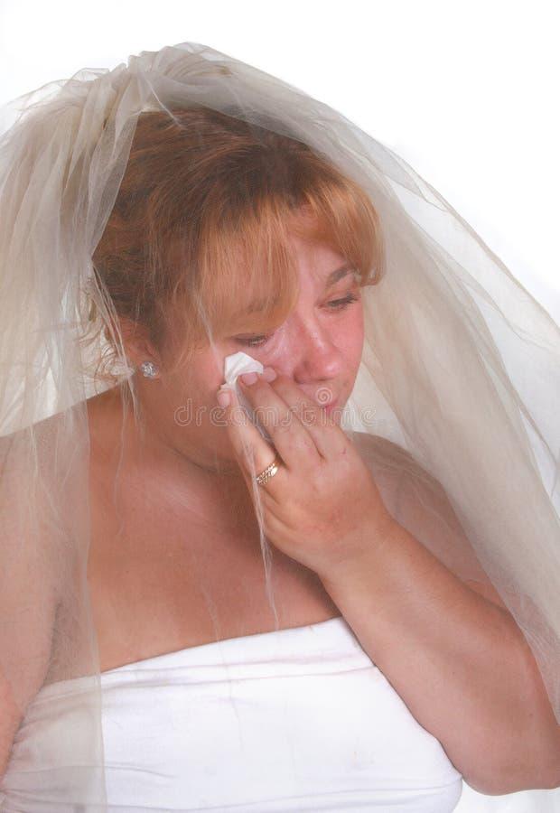 Sposa stressante fotografia stock libera da diritti