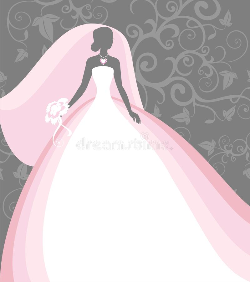 Sposa in un velare royalty illustrazione gratis