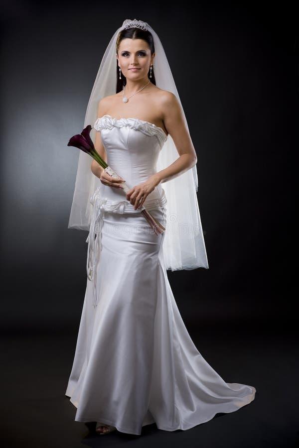 Sposa in vestito da cerimonia nuziale fotografie stock libere da diritti