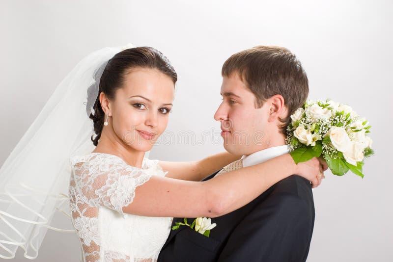 Sposato appena. fotografie stock libere da diritti