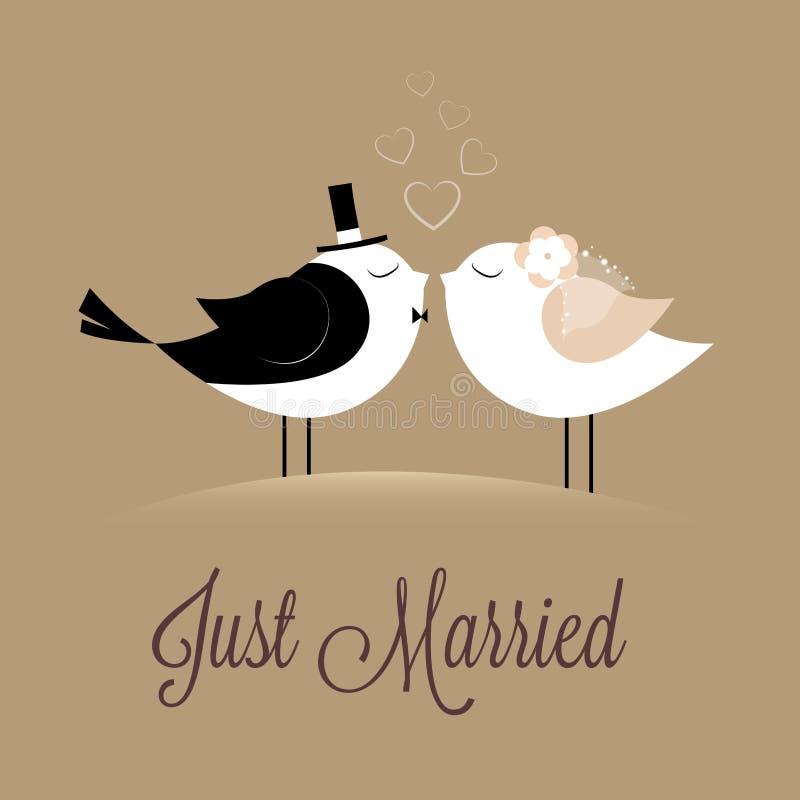 Sposato appena illustrazione di stock