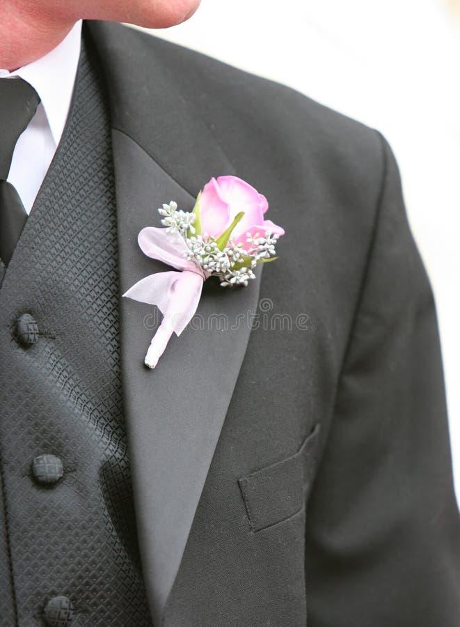 sposo del fiore fotografia stock libera da diritti